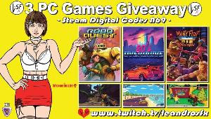 """Win 3 Pc games Digital (Steam): Game """"Roboquest"""" (Steam); Game """"80's OVERDRIVE"""" (Steam) & Game """"Mighty Fight Federation"""" (Steam)!!"""