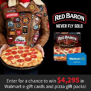 Win $4,295 in Walmart Gift Cards and Pizza Gift Packs - Grand Prize is $1,000 Walmart Gift CardWin $4,295 in Walmart Gift Cards and Pizza Gift Packs - Grand Prize is $1,000 Walmart Gift Card