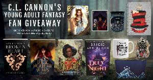 Win 4 books and a Jude Duarte art print, a Serpent & Dove enamel pin, An Ember in the Ashes magnet, a Darkling candle, a Caraval spiral notebook, a From Blood and Ash coffee mug, and a Velaris zippered pouch!