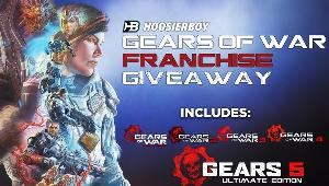 WIN 4 Codes to complete the Gears of War Collection, including Gears of War: Ultimate Edition, Gears of War 2, Gears of War 3, Gears of War 4, and Gears 5 Ultimate Edition.