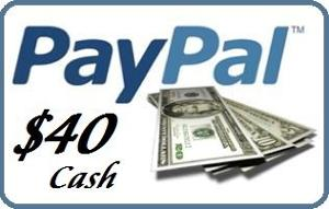 Win $40 PayPal Cash!