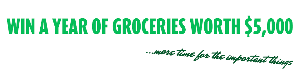 WIN $5,000 worth of Voucher for Groceries OR for Shopping OR for FOOD & more!
