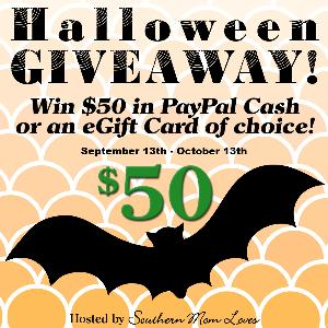 Win $50 in Cash or an eGift Card of choice giveaway