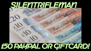 WIN  £50 Paypal Or Giftcards