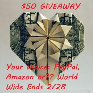 Win $50 Your Way!!