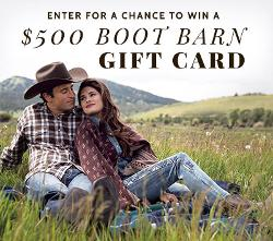Win $500 Boot Barn gift card