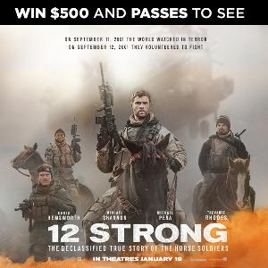 Win $500 CAD Visa + double pass to 12 STRONG