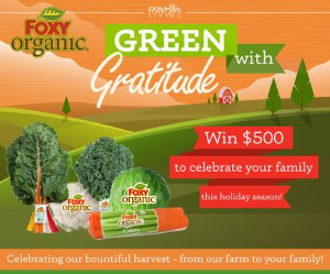 Win $500 Cash from Foxy Produce