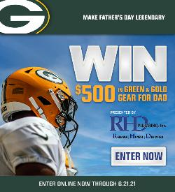 Win $500 in green & gold for Father's Day!