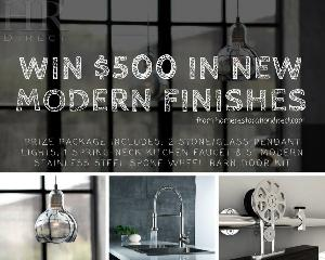 WIN $500 in Modern Finishes!