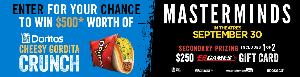 WIN: $500 Taco Bell gift card, or one of two $250 EB Games gift cards!