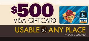 Win $500 VISA Gift Card