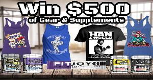 Win $500 worth Apparel & Supplements