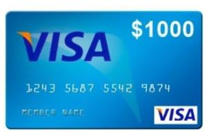 Win a $1,000 Visa Gift Card