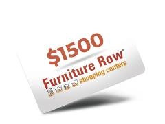 Contest win a 1 500 gift card to furniture row companies for Furniture row credit card