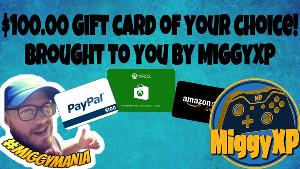 Win a $100.00 gift card of your choice