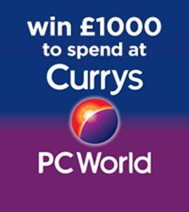 WIN a £1000 Gift Card to spend at either Currys or PC World!