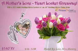 Win a $140+ Pictures on Gold Sterling Silver Heart Locket!