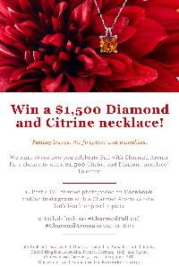 Win a $1500 Diamond and Citrine necklace
