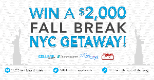Win a $2,000 Fall Break in NYC (College Students Only)