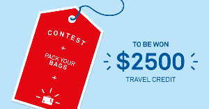 Win a $2,500 travel credit