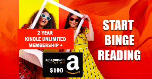 Win A 2-Year Kindle Unlimited Subscription + A $100 Amazon Gift Card!!