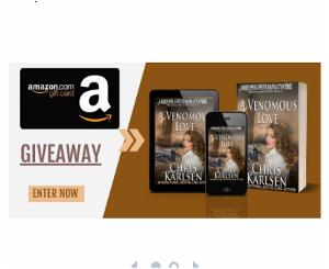 Win a $20 Amazon Gift Card or 1 of 2 e-copies of A Venomous Love!!