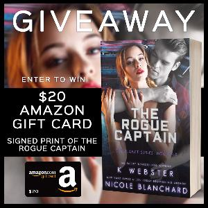 Win a $20 Amazon Gift Card, Signed print of The Rogue Captain!!