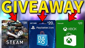 Win a $20 Amazon, Steam, PlayStation, Xbox, or Nintendo Card!!