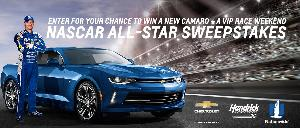 Win A 2018 Chevy Camaro Coupe and a trip to the Monster Energy NASCAR Cup