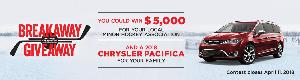 WIN a 2018 Chrysler Pacifica