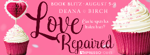 Win a $25 Amazon gift card + all of Deana Birch's books in ebook; $15 Amazon gift card + an eBook copy of Love Repaired ; eBook copy of Love Repaired