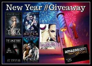 Win a $25 Amazon Gift card and FIVE (5) ebooks!