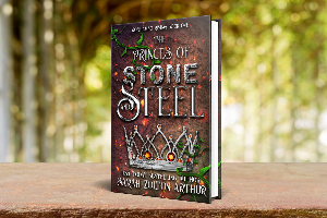 Win a $25 Amazon Giftcard, a Princes of Stone and Steel notebook and a premium 22oz. insulated water bottle with logo!!