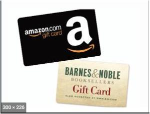 Win a $25 Amazon or Barnes & Noble gift card !
