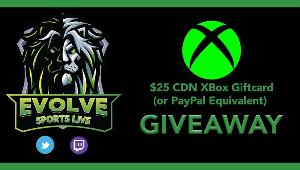 Win a $25 XBox Gift Card (* or Canadian Equiv)