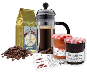 WIN: a 3-cup Chombard French Press, a bag of Gillies French Breakfast coffee + more