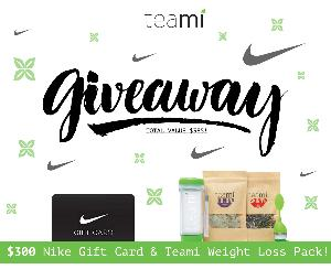 Win a $300 Nike Gift Card and Teami Weight Loss Pack