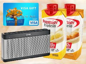 Win a $300 VISA Gift Card + a Bluetooth Speaker from Premier Protein!