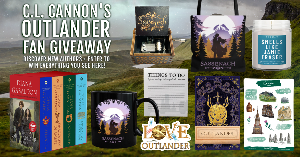 Win a 4-book paperback box set of Outlander by Diana Gabaldon, plus a Sassenach tote bag and coffee mug, an Outlander theme wooden music box, Outlander embossed notebook, Smells Like Jamie Fraser candle, ...+more!!