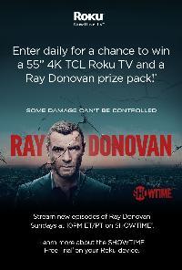 Win a 4K TCL Roku TV and prizes from Ray Donovan