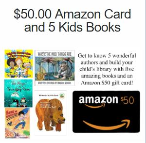 Win a $50.00 Amazon Card and 5 Kids Books