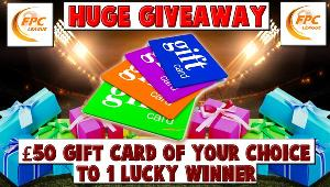 Win a £50 gift card of your choice!