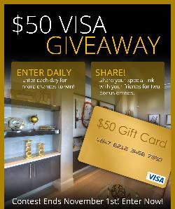 Win a $50 Visa Gift Card
