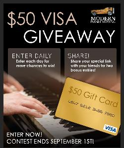 Win a $50 Visa Gift Card from Modern Piano Moving