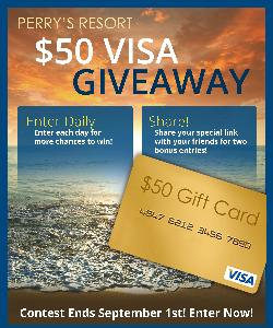 Win a $50 Visa Gift Card from Perry's Ocean Edge Resort