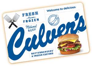 Win a $500.00 Culver's gift card