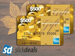 Win a $500 Amex Gift Card