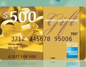 win a 500 amex gift card from slickdealss - 500 Visa Gift Card