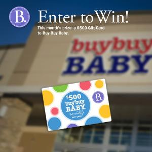 Win a $500 Buy Buy Baby Gift Card